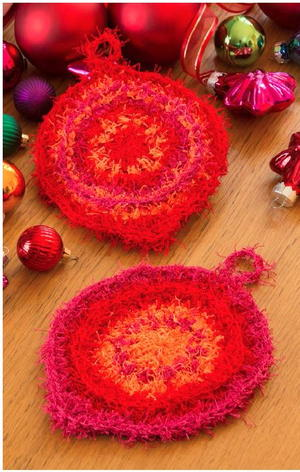 Retro Ornament Dish Scrubby