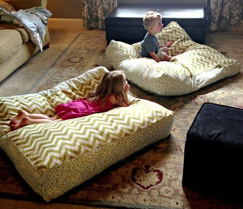 Giant Diy Floor Pillows Allfreesewing Com