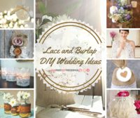 42+ Lace and Burlap DIY Wedding Ideas