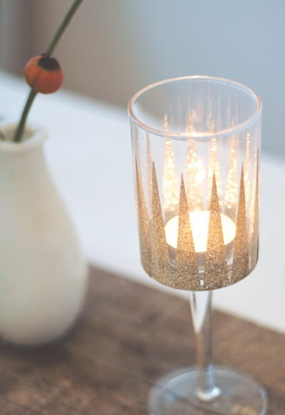 Shimmering Gold Candle Holders