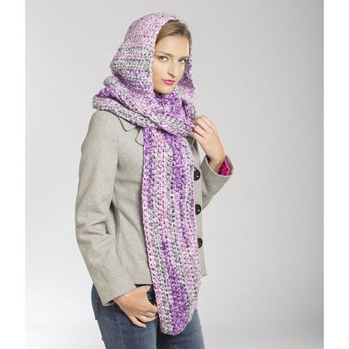 Majestic Hooded Scarf Pattern