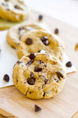 Thick and Chewy Pumpkin Chocolate Chip Cookies