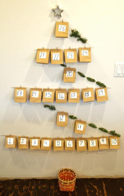 Diy Childrens Advent Calendar : Diy paper bag advent calendar allfreekidscrafts