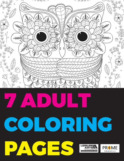 7 Adult Coloring Pages Free EBook FaveCrafts.com
