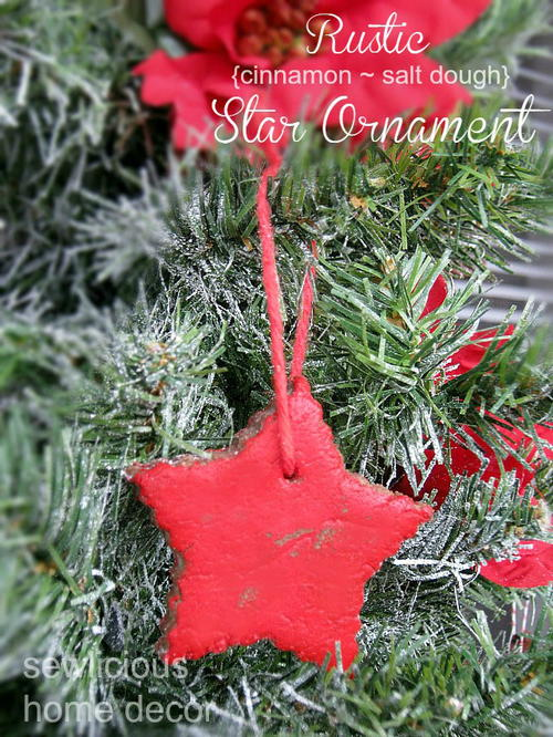 Rustic Salt Dough Star Ornament