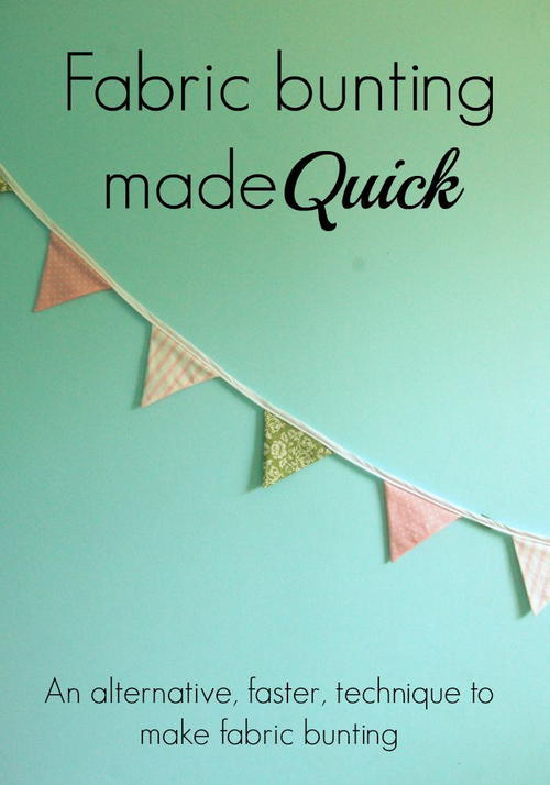 Super Speedy Fabric Bunting