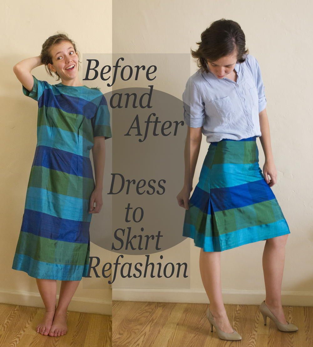 Dress To Skirt Refashion Allfreesewing Com