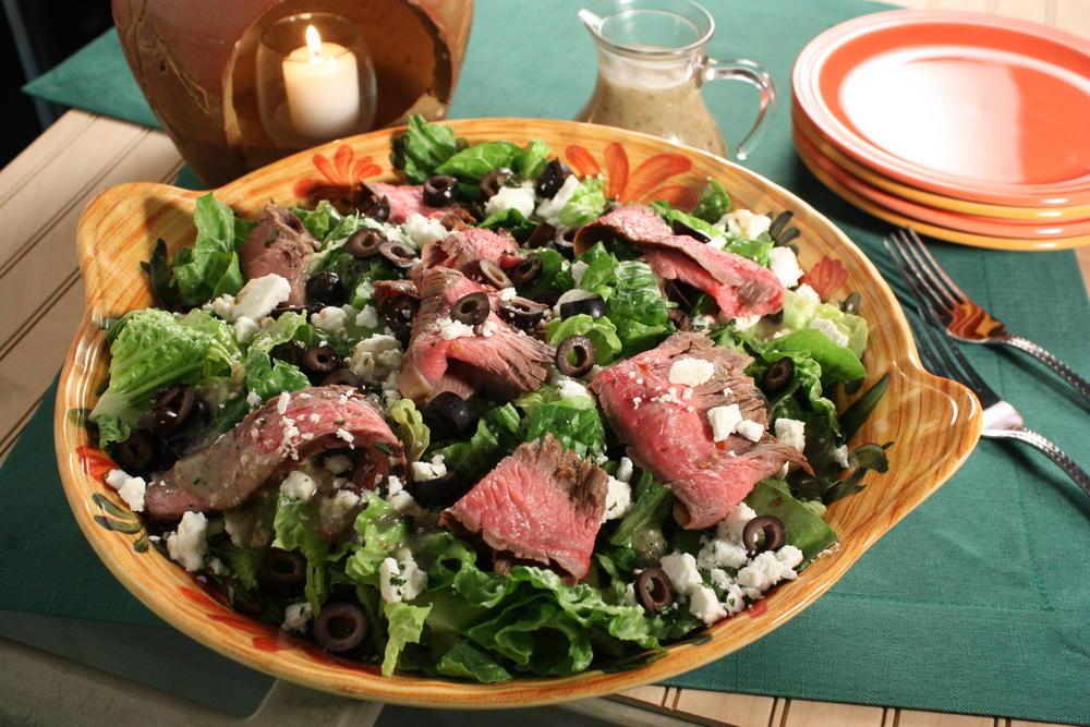 Zesty Flank Steak Salad Mrfood Com