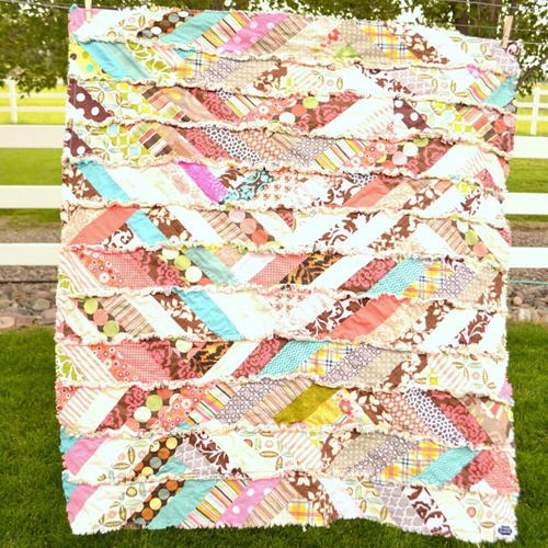 Autumn Scrappy Rag Quilt Pattern