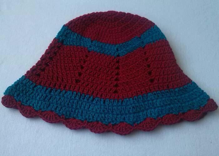 Free Crochet Zig Zag Hat Pattern : Zig Zag Hat Free Pattern AllFreeCrochet.com