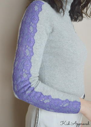 Lovely Lace Upcycled Sweater