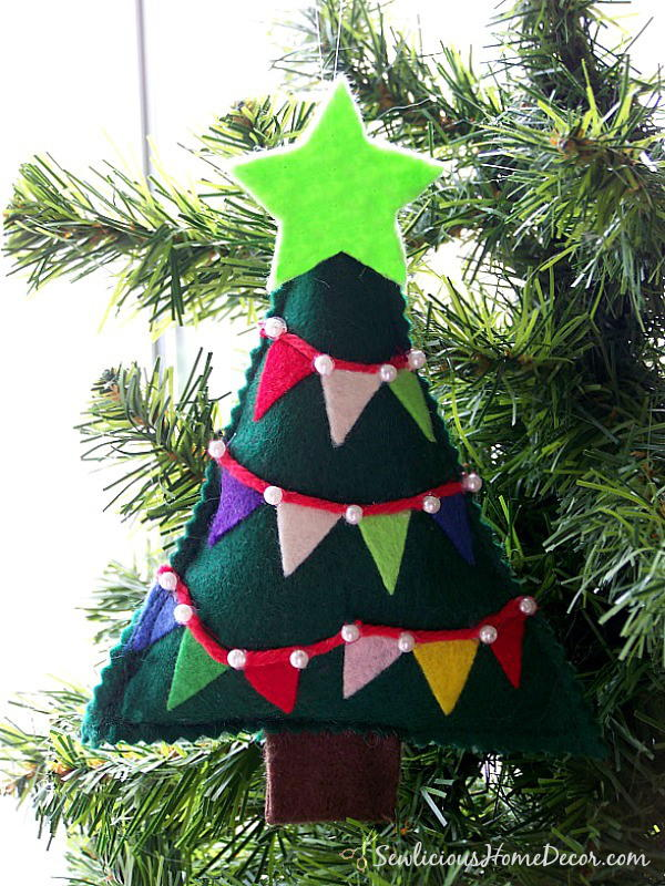 easy felt christmas tree - Christmas House Pictures