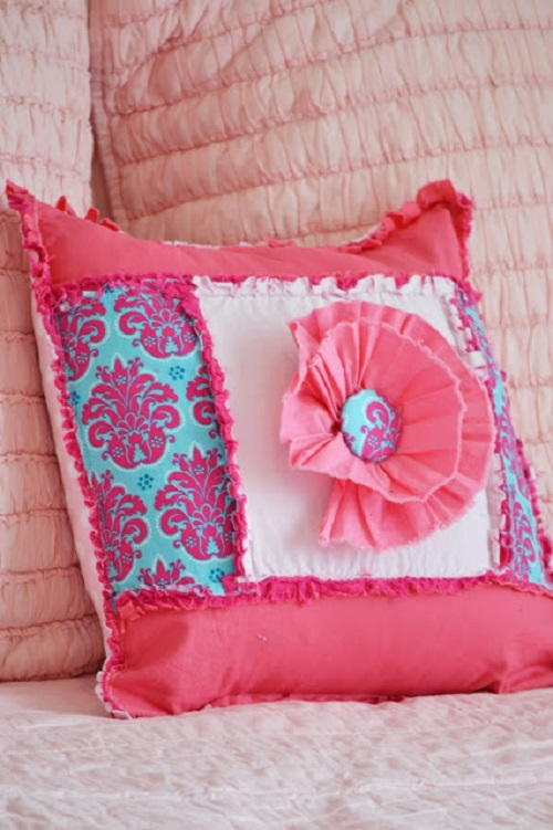 Pretty in Pink Ruffle Throw Pillow AllFreeSewing.com