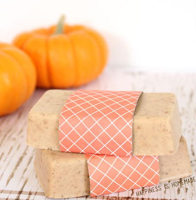 10-Minute Pumpkin Spice Soap