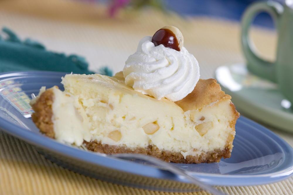 White Chocolate Macadamia Nut Cheesecake Mrfood Com