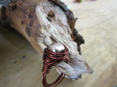 Swarovski Pearl Wire-Wrapped Ring