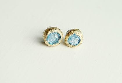 Gold and Glass Earrings
