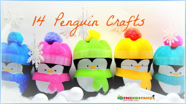 Winter Crafts for Kids: 14 Penguin Crafts