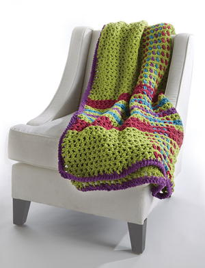Homey Plaid Crochet Blanket