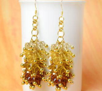 Oh My Ombre Crystal Cluster Earrings