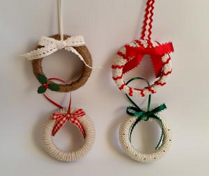 Mason Jar Wreath Ornaments