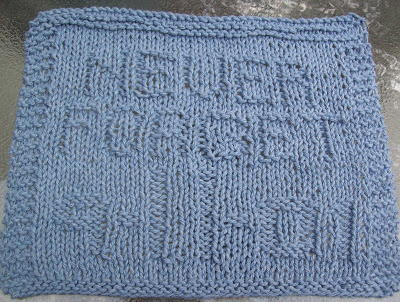 Never Forget Knit Dishcloth