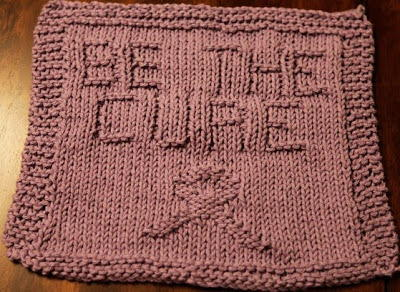 Be the Cure Knit Dishcloth