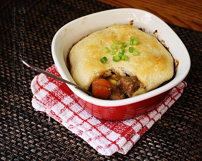 Beef Stew Biscuit Pot Pie