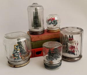 Recycled Waterless Snowglobes