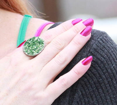 How to Make a Druzy Ring