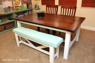 Chic DIY Country Table and Bench