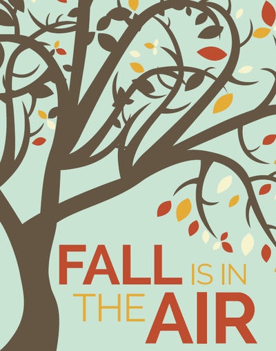 Fall is in the Air Free Printable Wall Art