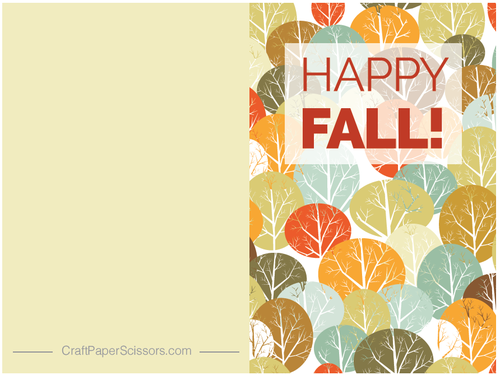 Happy Fall Free Printable Card