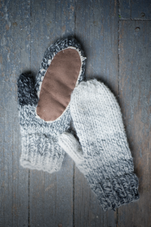 Ombre Knit Mittens