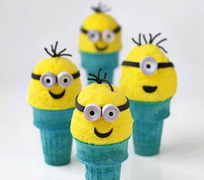 Minions Ice Cream Cones