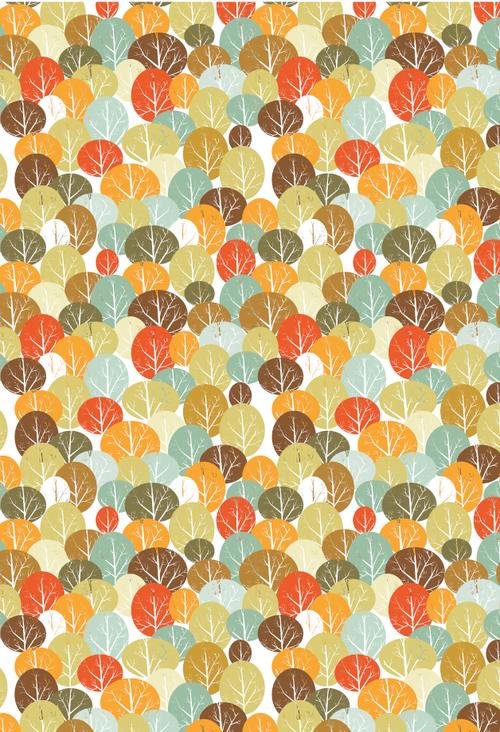 Fall Forest Printable Gift Wrap