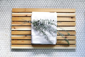 DIY Soft Cedar Bath Mat