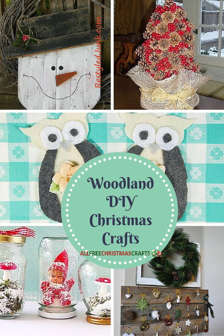 38 Woodland DIY Christmas Crafts | AllFreeChristmasCrafts.com