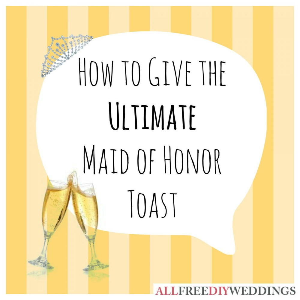 how to write a maid of honor speech for sister One of the most exciting obligations an moh gets to partake in, depending on how you feel about public speaking, is writing and presenting the maid of honor speech.
