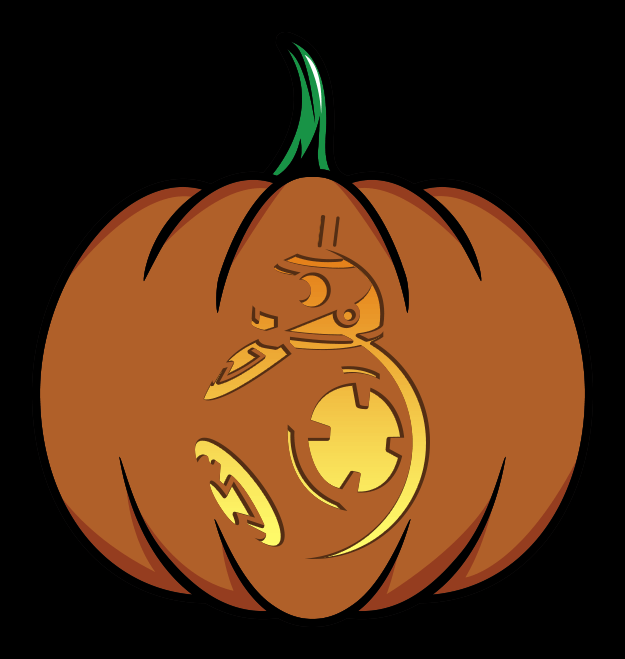 Star wars the force awakens pumpkin patterns for Big pumpkin carving patterns