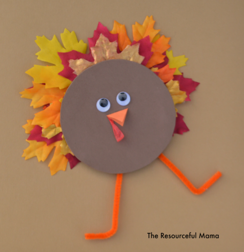 Recycled Cd Turkey Kid Craft