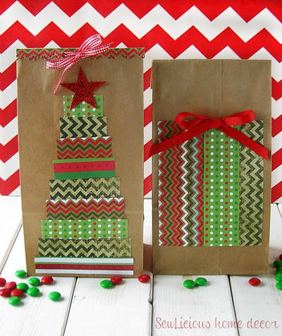 Christmas Tree Paper Gift Bags