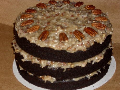 German Dark Chocolate Cake