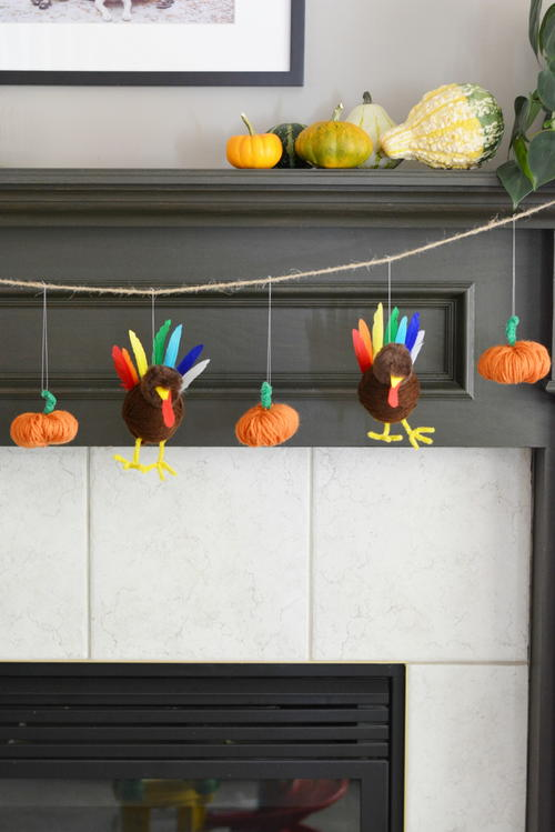 Turkey and Pumpkin Thanksgiving Garland