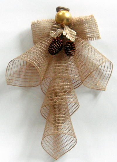 Mesh Ribbon Christmas Angel