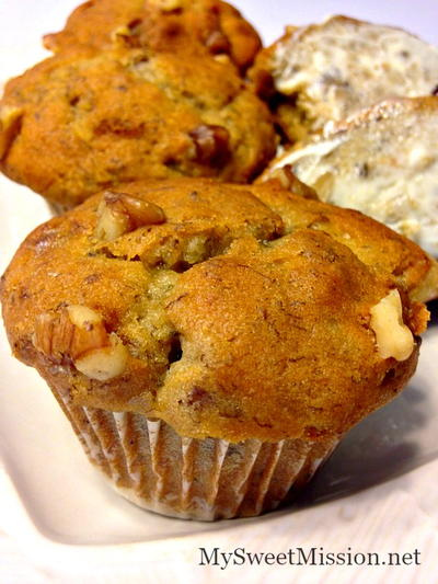 Brown Sugar Banana Nut Muffins