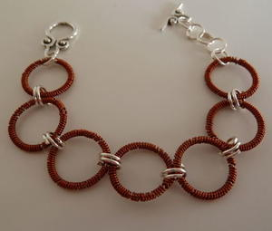Coiled Circles Wire Bracelet