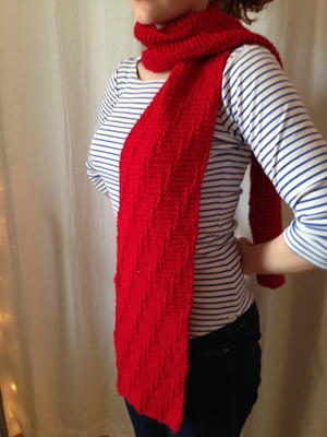 The Altimeter Red Knit Scarf
