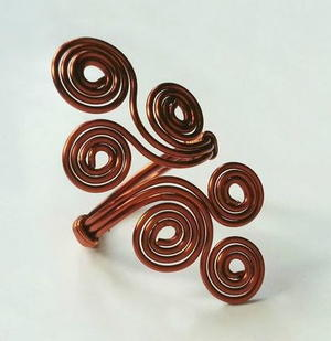 Wire-Wrapped Swirls Ring