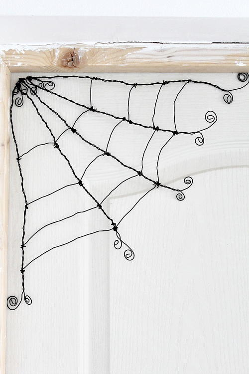 Halloween Wire Spider Web